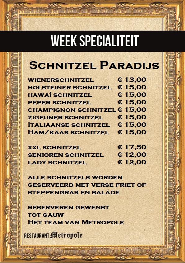 schnitzel kaart
